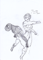 WIP - Gogeta Vs Spiderman by DV930 and ReelDeviant by ReelDeviant