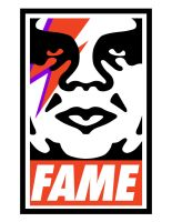 David Bowie 'FAME' OBEY Poster by ericksonharry
