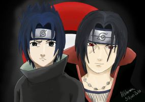 The Uchiha Brothers by fiffiluren