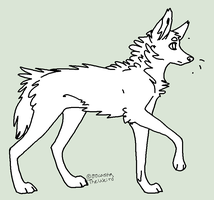 Maned wolf line art (FREE) by homeqrown