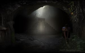 trapped in a cave by Ola55