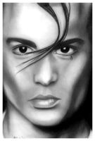 Johnny Depp - Cry Baby Drawing by fading-flower