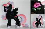 Stygian Rose - OC Custom Plush Pony Czech crystals by Lavim