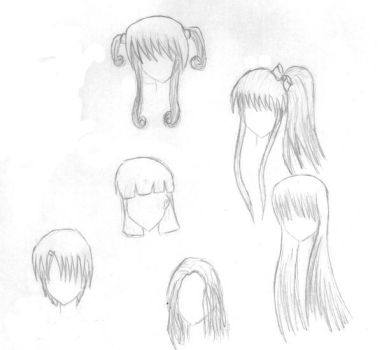 New idea's for anime hair by Amulet-Cross