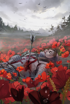 Reminiscing the fields covered in red by hyokka