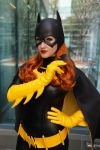 Batgirl with a Batarang by Pokypandas