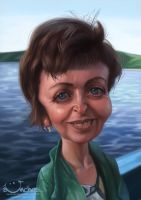 Caricature for a woman by creaturedesign