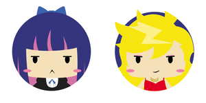 panty and stocking pins by rollypops