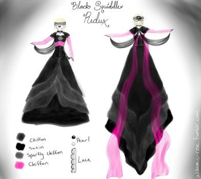 Black Squiddle dress revamp by Kunoichi-Dawn