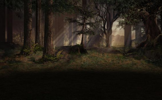 stock back forest 0235 by Ecathe