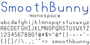 SmoothBunny Monospace by chickenmeister