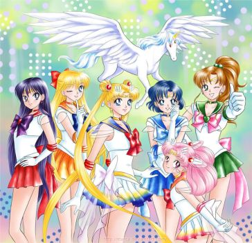 Inner Senshi - color by starca