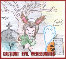Scary Halloween animals by HaChan