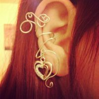 An ear cuff with a heart. by Noir-Licorne
