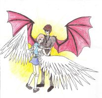 Angel and Demon of Fanfiction by Dragonastra