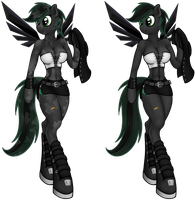Genderbent Anthro Crystal thorn (Crystal Jade) by Midnight-Devilwitch