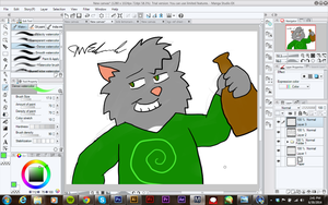 Rodger in Manga Studio 5 by JWthaMajestic