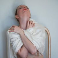 White Scarf Nude 20 by chamberstock