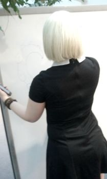 Rose Lalonde Writing on Marker Board by ItalyHime