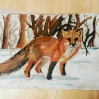 Fox in the snow by Recoil-the-Fox87