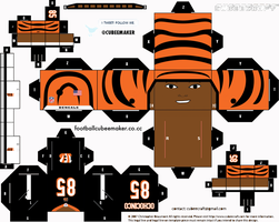 Chad Ochocinco Bengals Cubee by etchings13