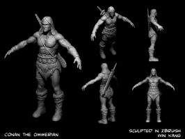 Conan the Cimmerian in Zbrush by d-art-studios