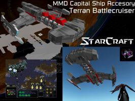 MMD Capital Ship Accessory - Terran Battlecruiser by RaidenRaidenRaiden