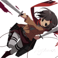 SNKxKagerou Project: Ayano Render by Miliyuu