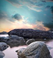 Mermaid's Rock Premade Background by little-spacey