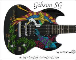 Custom Design Guitar: Oriental by ArticWind