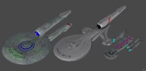 'Star Trek D.A.C.' Confederation Ships XPS ONLY!!! by lezisell