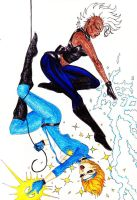 Storm and Dazzler '04 by DangerFaerie