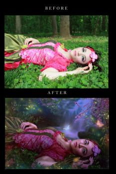 A Magical Night In The Forest Before After  by ektapinki
