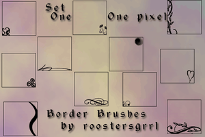 01-One Pixel Border Brushes by wolfgrrlone