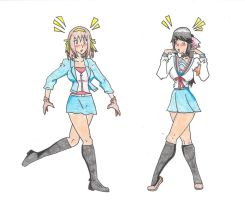 Kay and Haruhi Head Swap by KayTheYatagarasu