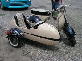 Vespa And Sidecar by Harrms