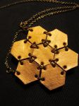 Gold leather necklace by maskedzone