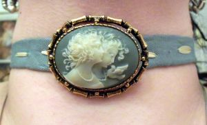 Blue-Green Cameo Choker by LadyMidnight81