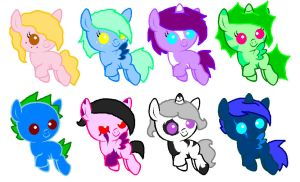 MLP Foal Adoptables~CLOSED by DJ-Sky-Storm-117