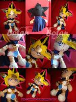 Pharaoh Atem plush version by Momoiro-Botan