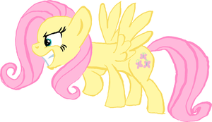 New Fluttershy - Colored With Colored Lines by littlecolt