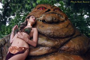 Leia andJabba - 10 by Darthsandr