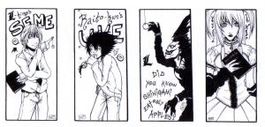 Death Note Bookmarks by Kumagorochan