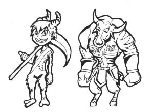 Minotaur and Satyre
