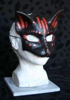 Bronze Tribal Cat Mask by nondecaf