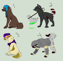 Mixed Wolf Adopts [2/4 open] by AvalaAdopts