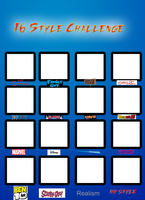 16 Style Challenge Template by DCGIL