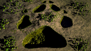 Giant footprint wallpaper by Vuenick