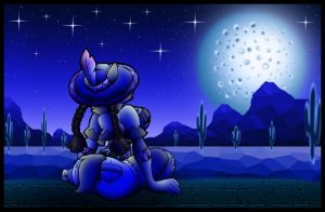 Nevada Desert Moonlight. by Virus-20
