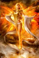 Emma Frost as the Phoenix by PatLoika
